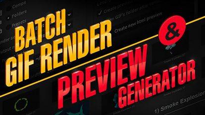 اسکریپت افترافکت ساخت پیش نمایش Preview Generator