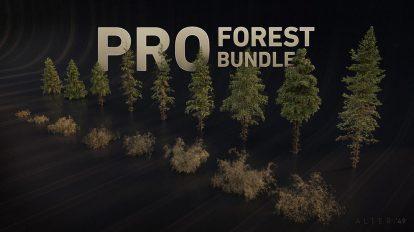 مجموعه مدل سه بعدی درختان جنگلی Pro Forest Bundle