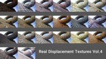 مجموعه جامع تکسچر حرفه ای Real Displacement Textures Vol.4