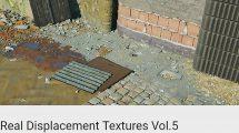مجموعه تکسچر کف و دیوار تخریب شده Real Displacement Textures Vol.5
