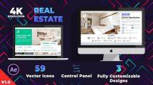پروژه افترافکت تیزر تبلیغاتی مشاور املاک Real Estate Promo