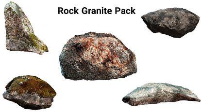مجموعه مدل سه بعدی سنگ گرانیت Rock Granite Pack