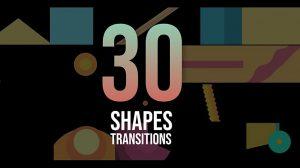 مجموعه ترانزیشن با اشکال Shape Transitions Pack