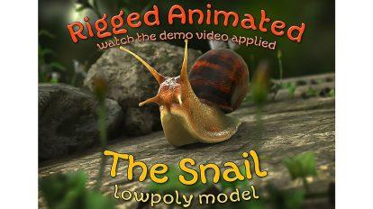مدل سه بعدی و انیمیشن حلزون Snail Low Poly