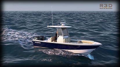 مدل سه بعدی قایق ورزشی ماهیگیری Sport Fishing Boat
