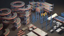 مجموعه مدل سه بعدی قفسه های انبار Storage Rack Collection