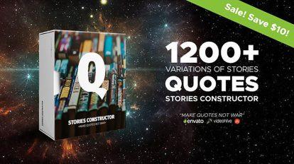پروژه افترافکت ساخت استوری نقل قول اینستاگرام Stories Constructor