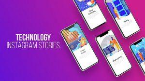 پروژه افترافکت استوری اینستاگرام با موضوع تکنولوژی