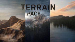 مجموعه جامع تکسچر برای ساخت زمین و کوه Terrain Pack