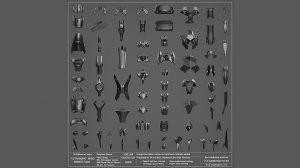 مجموعه مدل سه بعدی ساخت زره Ultraborg Armor Pack