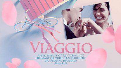 پروژه افترافکت گالری عکس عاشقانه Viaggio Romantic Gallery