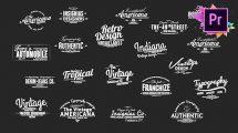 پروژه پریمیر مجموعه عناوین متحرک Vintage Typography Pack