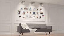 پروژه افترافکت اسلایدشو نمایش عکس روی دیوار Wall Frame Slideshow