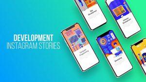 پروژه افترافکت استوری اینستاگرام با موضوع توسعه وب