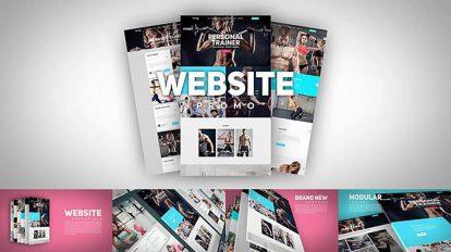 پروژه افترافکت تیزر تبلیغاتی وبسایت Website Promo