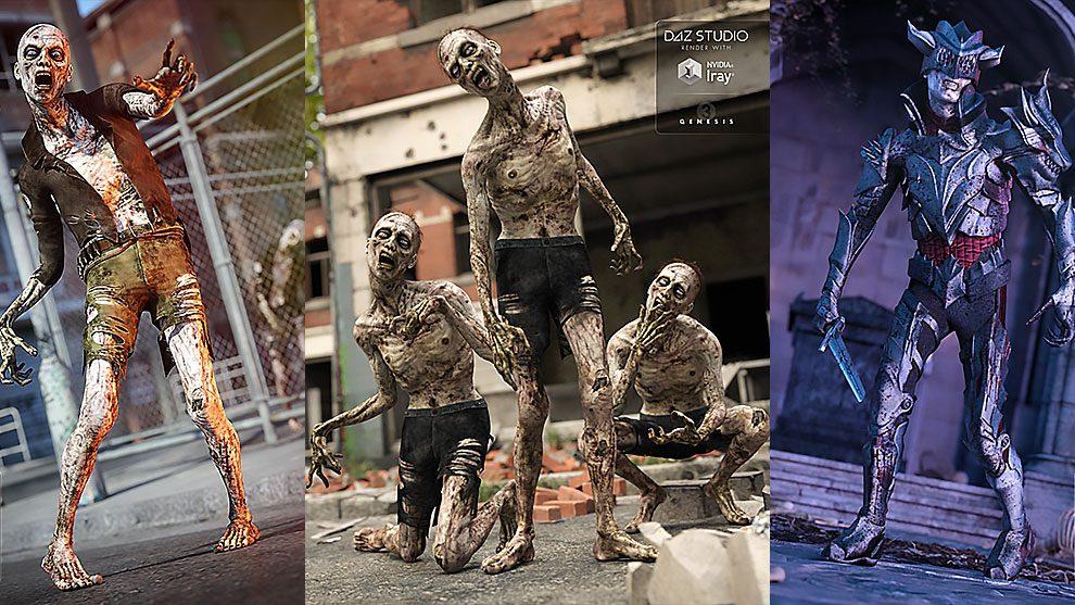 مجموعه مدل سه بعدی زامبی Zombie Markus Bundle