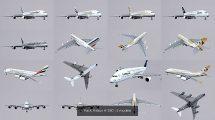 مجموعه مدل سه بعدی هواپیمای ایرباس Airbus A-380
