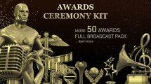 پروژه افترافکت مجموعه اجزای ویدیویی مراسم جوایز Award Ceremony Kit