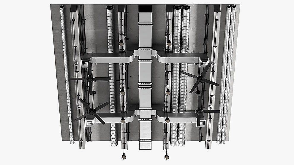 مجموعه مدل سه بعدی تهویه سقفی Ceiling Ventilation 1