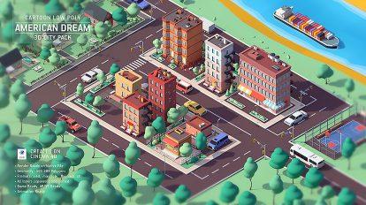 مجموعه مدل سه بعدی فضای شهری Dream City Pack