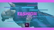 پروژه پریمیر افتتاحیه با افکت گلیچ Fashion Glitch Opener