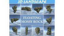 مجموعه مدل سه بعدی سنگ خزه دار Floating Island Mossy Rock Pack