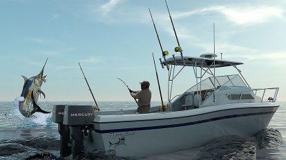 مدل سه بعدی قایق ورزشی ماهیگیری Grady White Sport Fishing Boat
