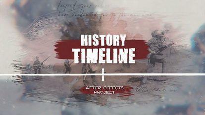 پروژه افترافکت نمایش گذر تاریخ History Timeline