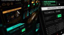 پروژه افترافکت مجموعه اجزای صفحه نمایش پیشرفته HUD Screens