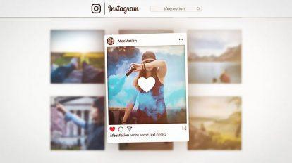 پروژه افترافکت تیزر تبلیغاتی اینستاگرام Instagram Promo