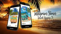 پروژه افترافکت استوری اینستاگرام برای آژانس تبلیغاتی Instagram Stories Travel