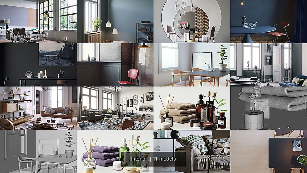 مجموعه مدل سه بعدی برای طراحی داخلی Interior 3D Model Collection