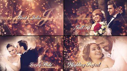پروژه افترافکت اسلایدشو عروسی Lovely Wedding Slideshow