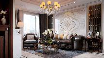 صحنه آماده سه بعدی داخلی آپارتمان لوکس Luxury Apartment Design 2