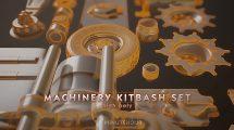 مجموعه مدل سه بعدی اجزای ماشینی و صنعتی Machinery Set Kitbash
