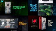 پروژه افترافکت تیزر تبلیغاتی اپلیکیشن موبایل Modern Mobile App Promo