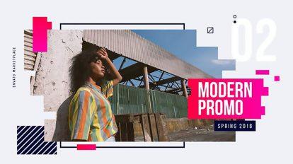 پروژه افترافکت تیزر تبلیغاتی مدرن Modern Promo