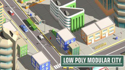 مجموعه مدل سه بعدی اجزای شهری Modular City Pack