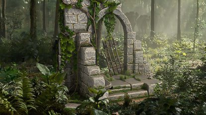 مجموعه مدل سه بعدی در با سنگ طبیعی Natural Stone Door