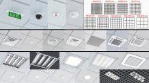مجموعه مدل سه بعدی چراغ های سقفی Office Celing Lights Kit
