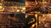 پروژه افترافکت نمایش لوگو پارتیکلی طلایی Particles Gold Logo