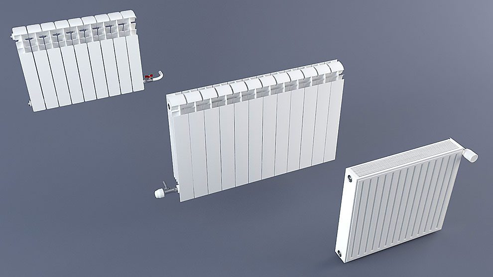 مجموعه مدل سه بعدی رادیاتور Radiator Pack