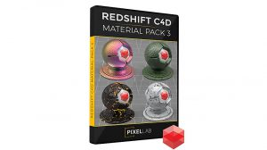 مجموعه متریال ردشیفت برای سینمافوردی Redshift C4D Material Pack 3