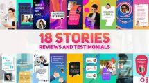 پروژه افترافکت نمایش نظرات در استوری اینستاگرام Reviews and Testimonials