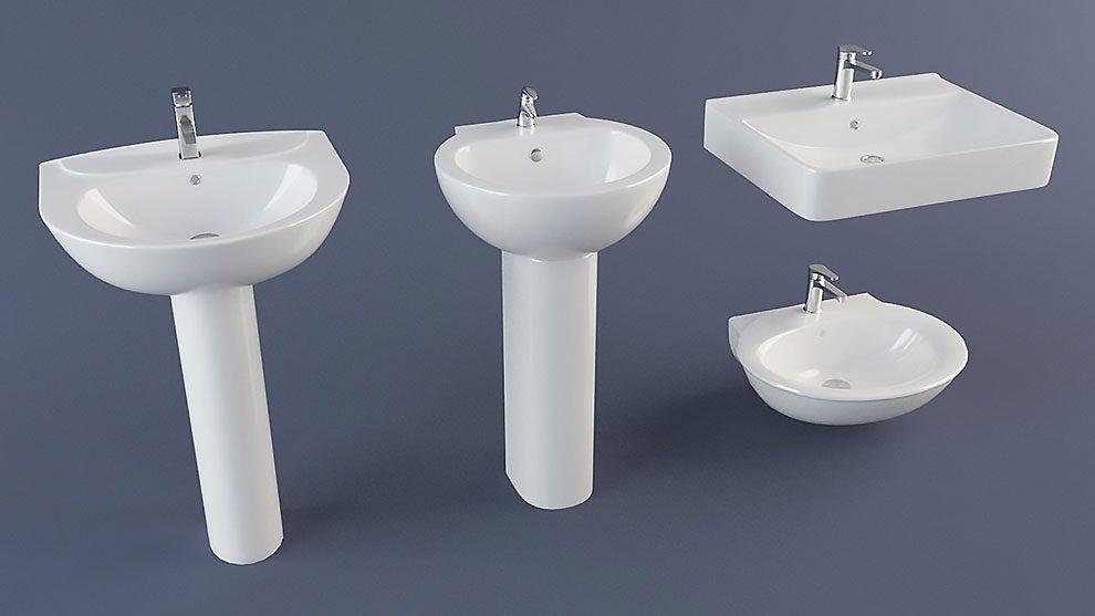 مجموعه مدل سه بعدی سینک دستشویی Sink Pack