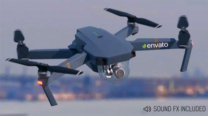 پروژه افترافکت نمایش لوگو با هلی کم Small Drone