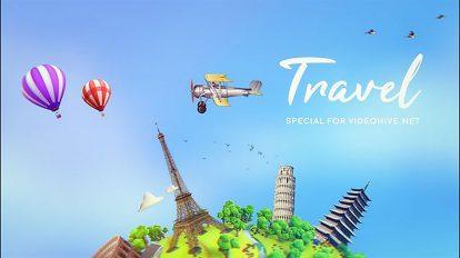 پروژه افترافکت تیزر تبلیغاتی گردشگری Travel