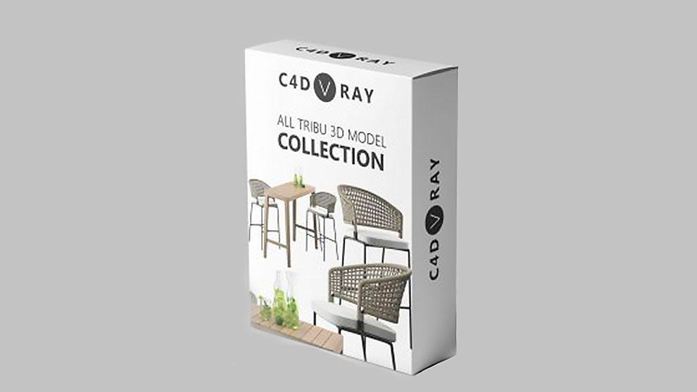 مجموعه مدل سه بعدی صندلی برای سینمافوردی Tribu Models Collection