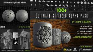 مجموعه تکسچر آلفا برای مدلسازی سه بعدی Ultimate Stylized Alpha Pack