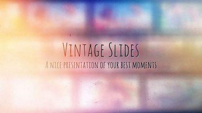 پروژه افترافکت گالری عکس وینتیج Vintage Slides Photo Gallery